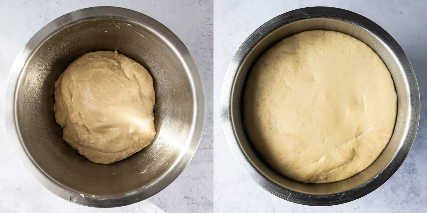 step 2 - letting the dough rise