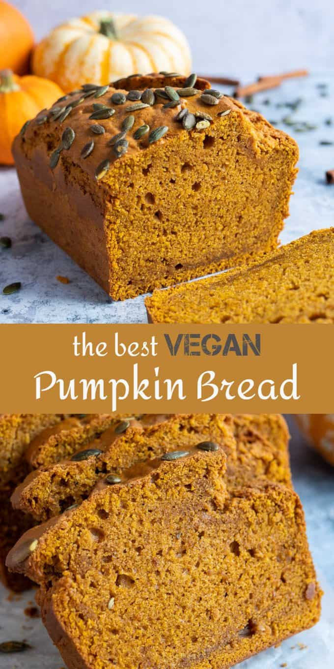 vegan pumpkin bread pinterest image