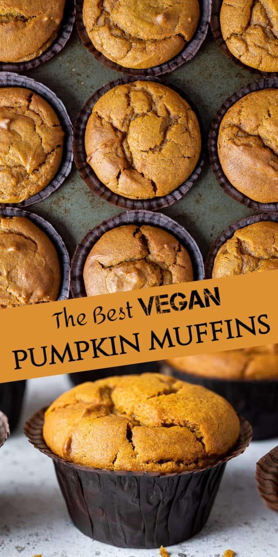 vegan pumpkin muffins pinterest image