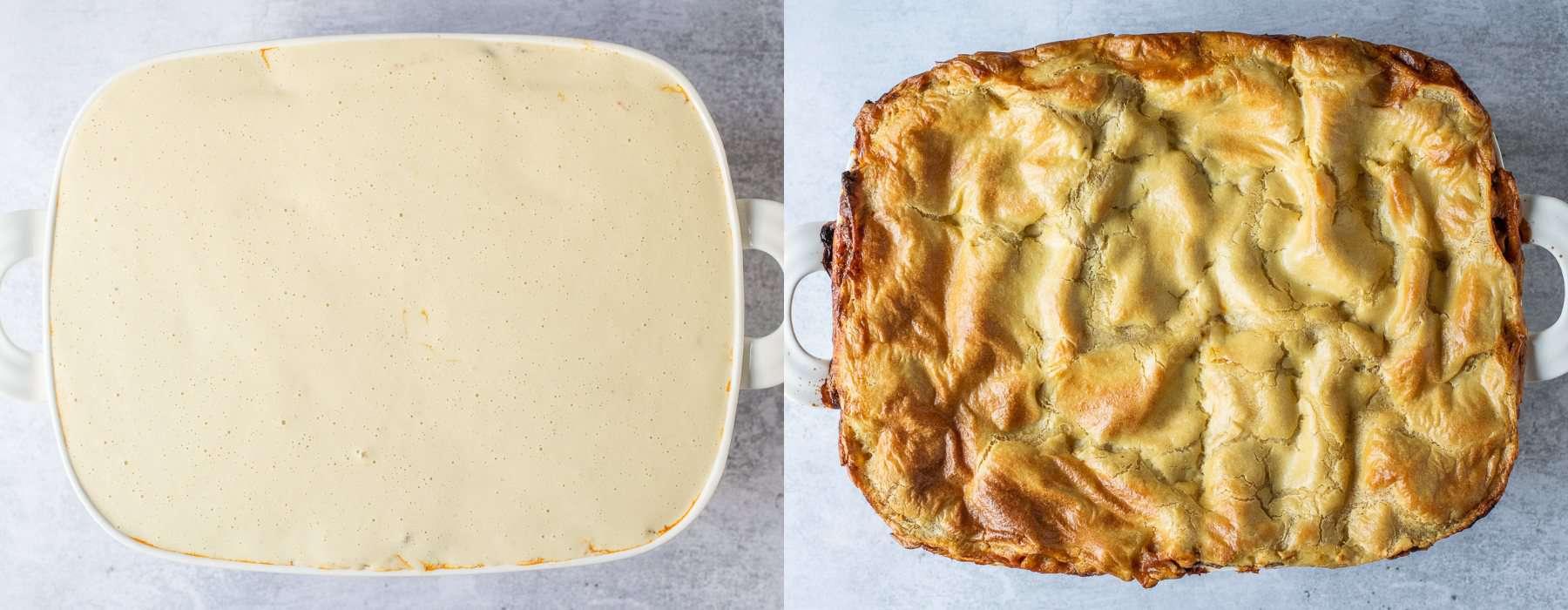 step 7 - cooking the lasagna