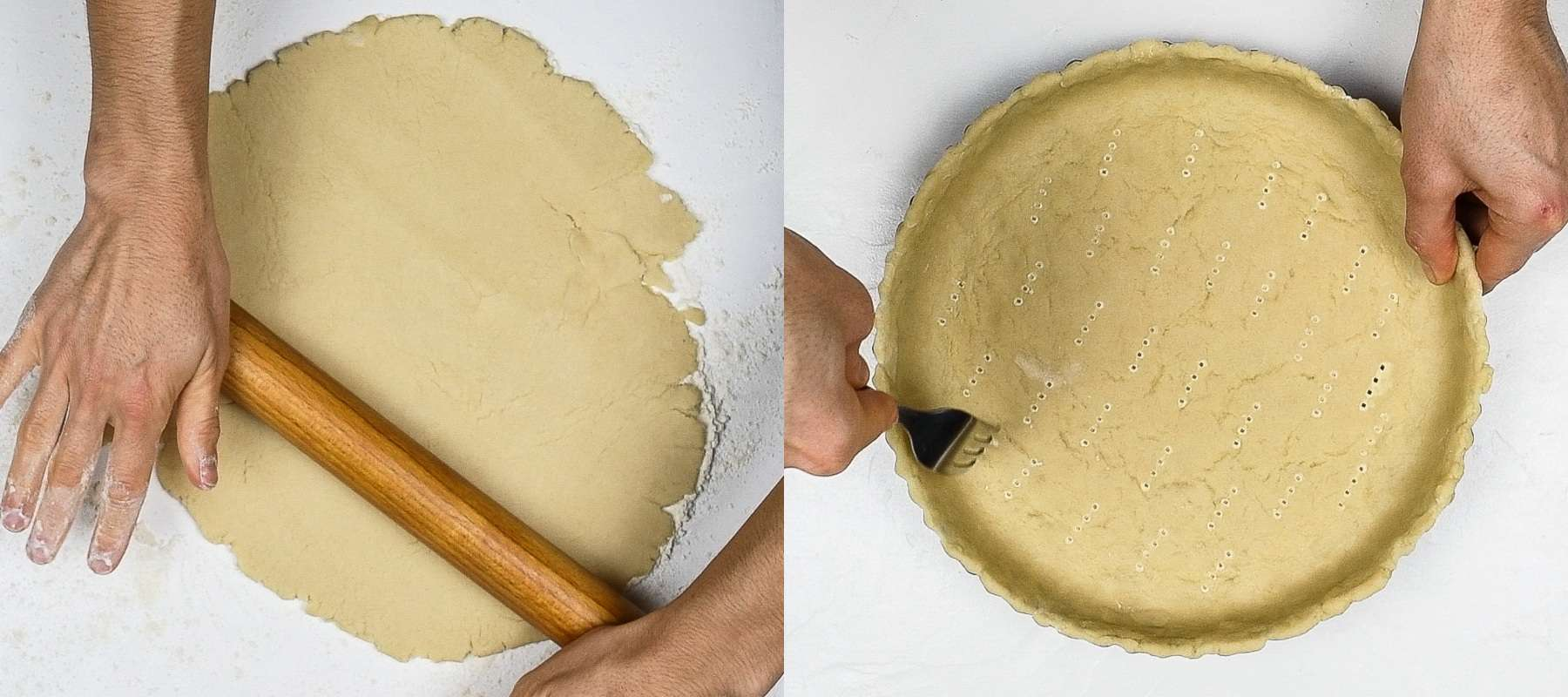 step 2 - lining the pie dish