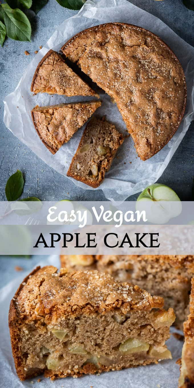 vegan apple cake pinterest image