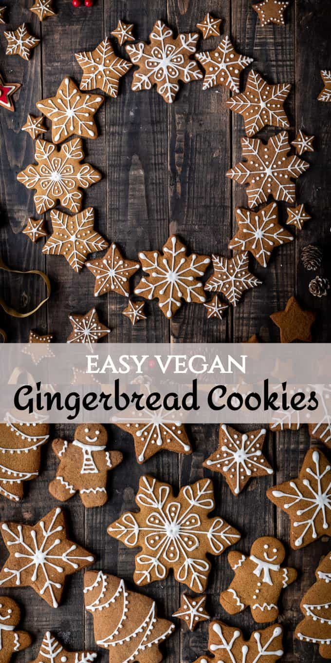 vegan gingerbread cookies pinterest image