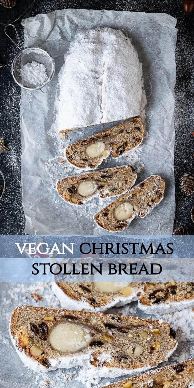 vegan stollen pinterest image