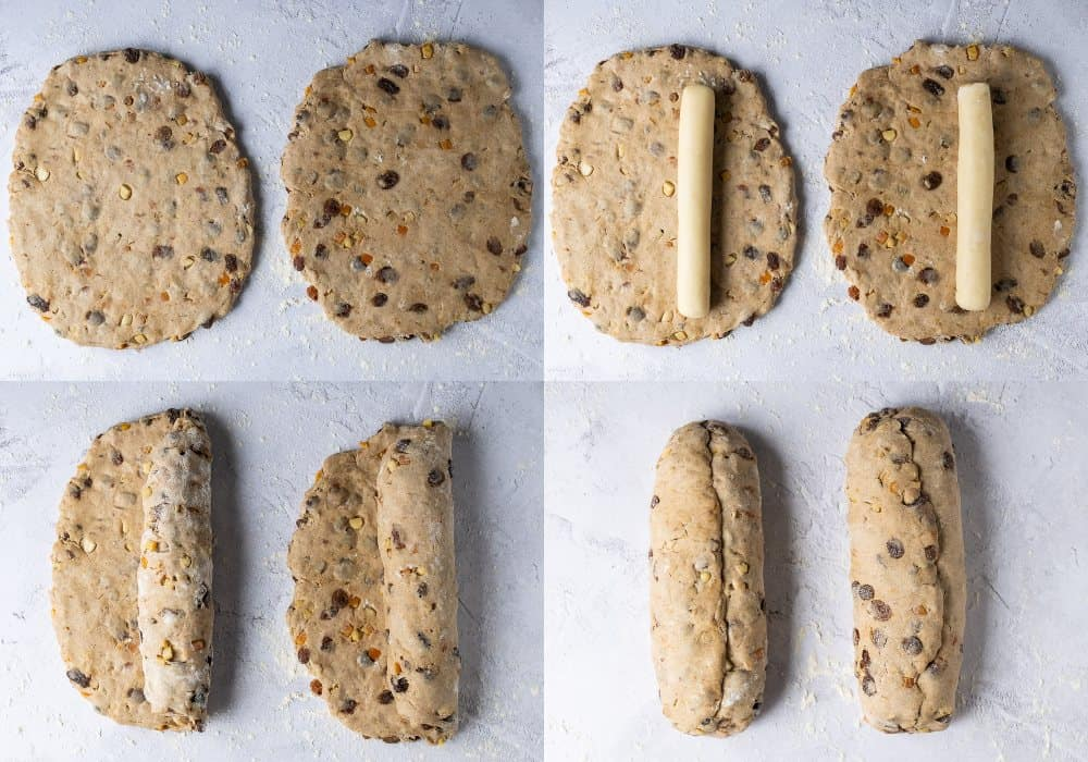 step 5 - shaping the stollen
