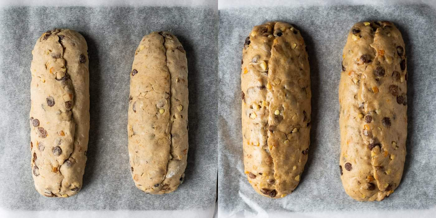 step 6 - giving the stollen their second rise