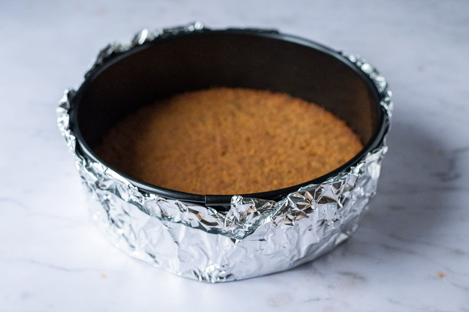 step 3 - lining the tin with foil