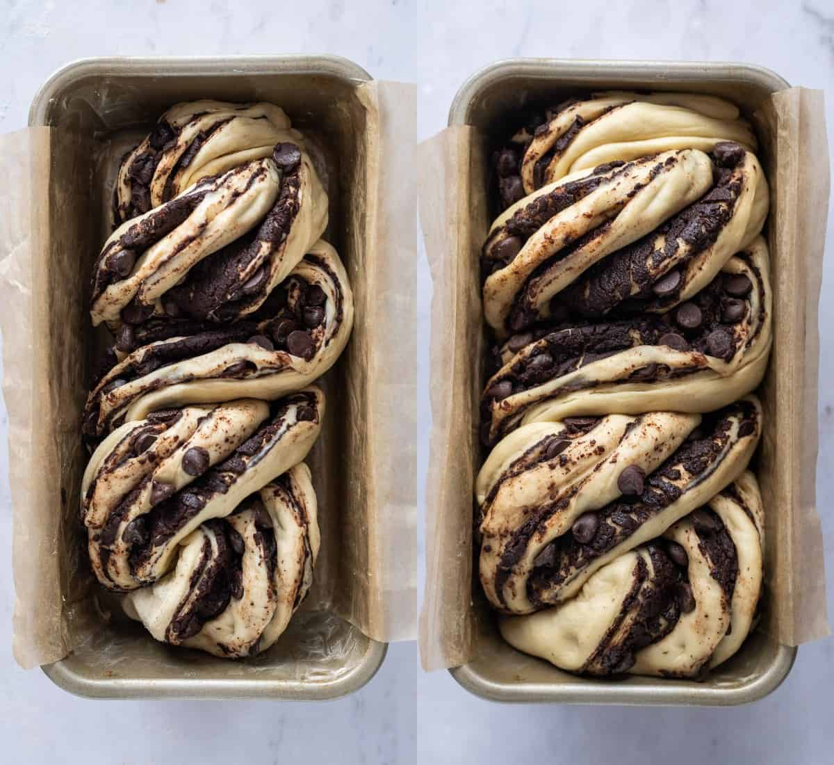 step 7 - letting the babka rise