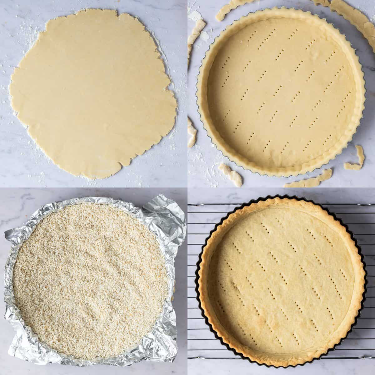step 2 - blind baking the pastry