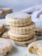 A stack of vegan Welsh cakes