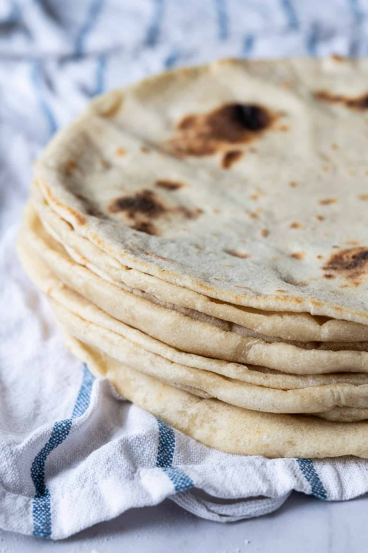 A stack of easy flatbreads