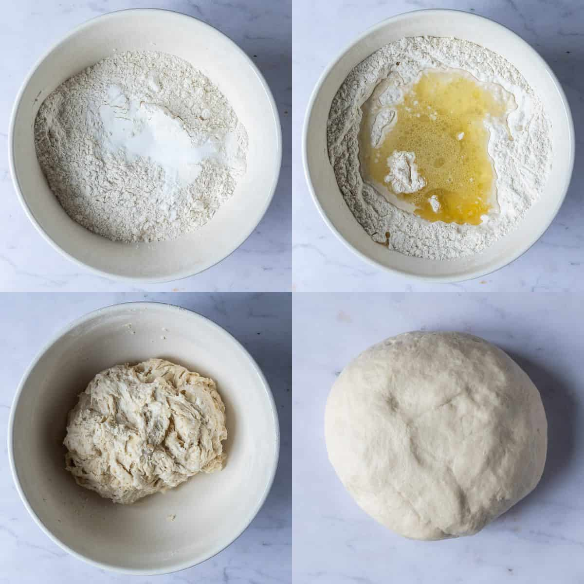 step 1 - making the dough