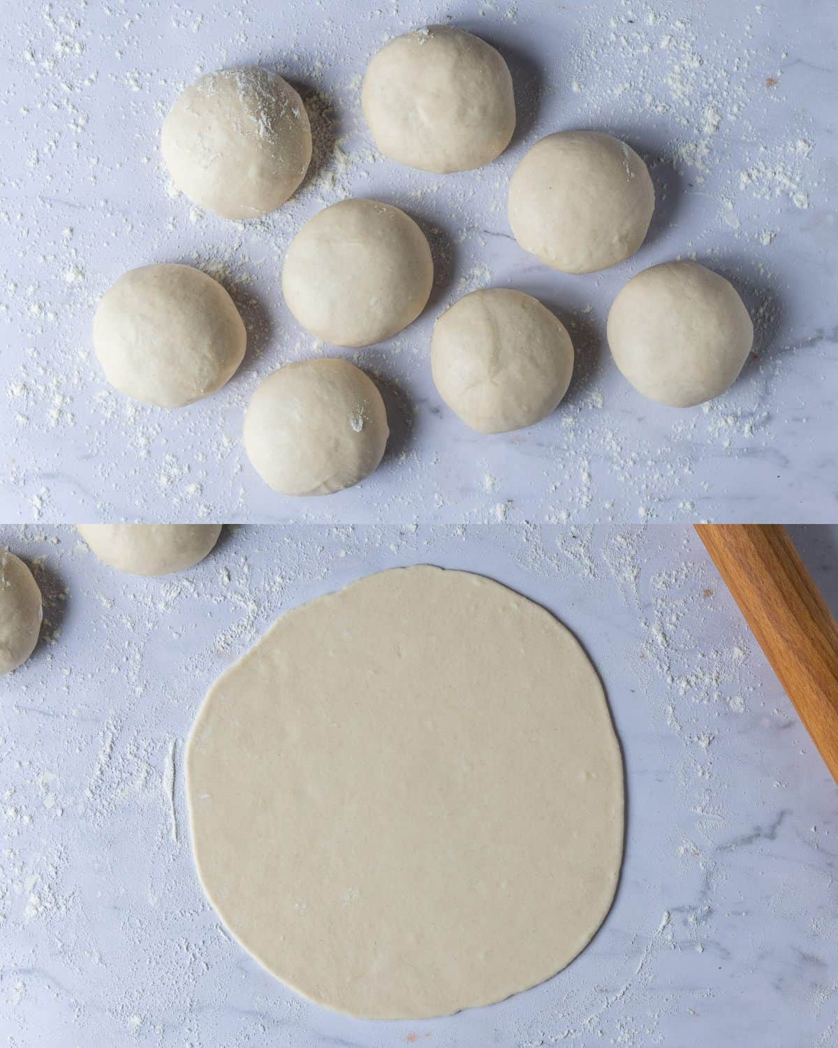 step 2 - rolling out the dough