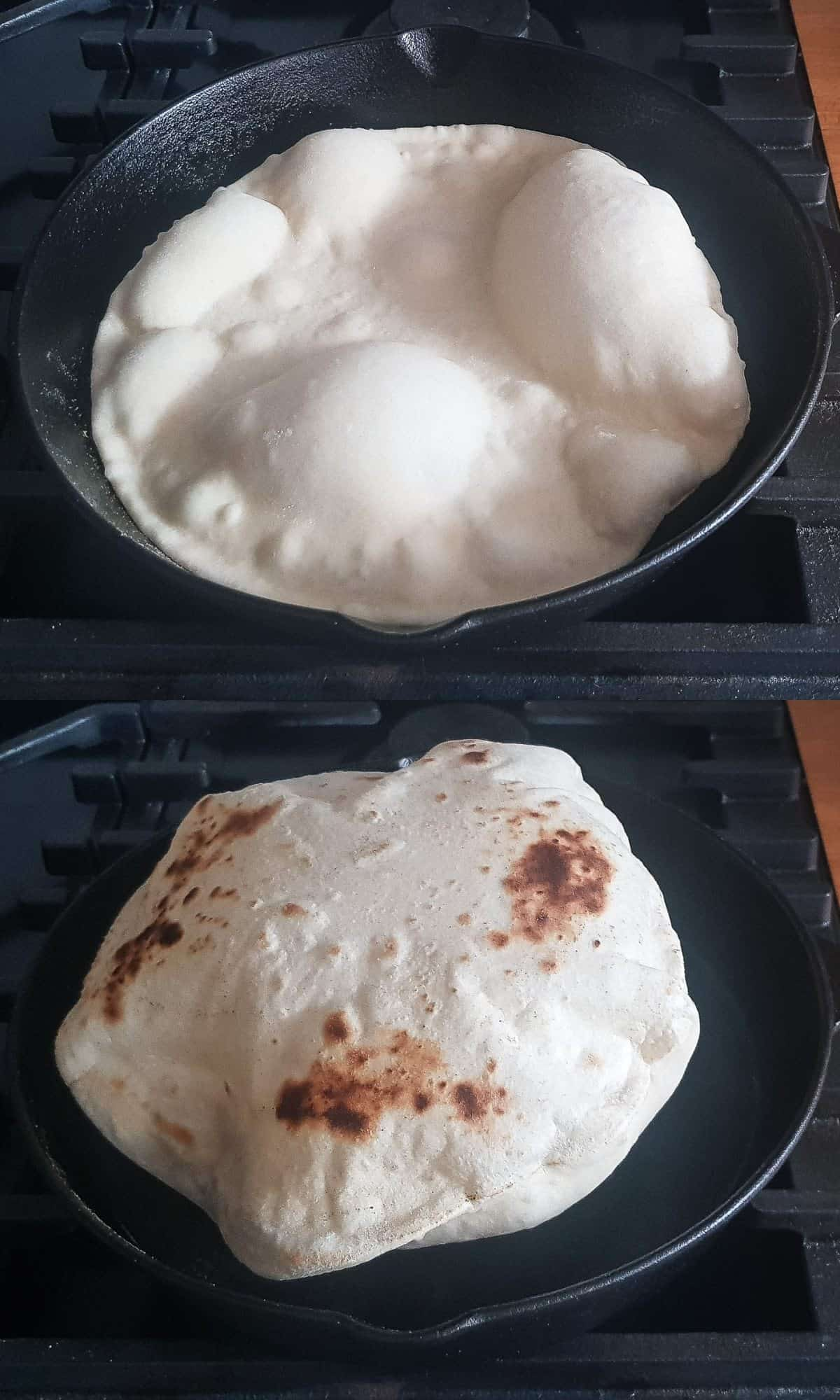 step 3 - cooking the flatbreads