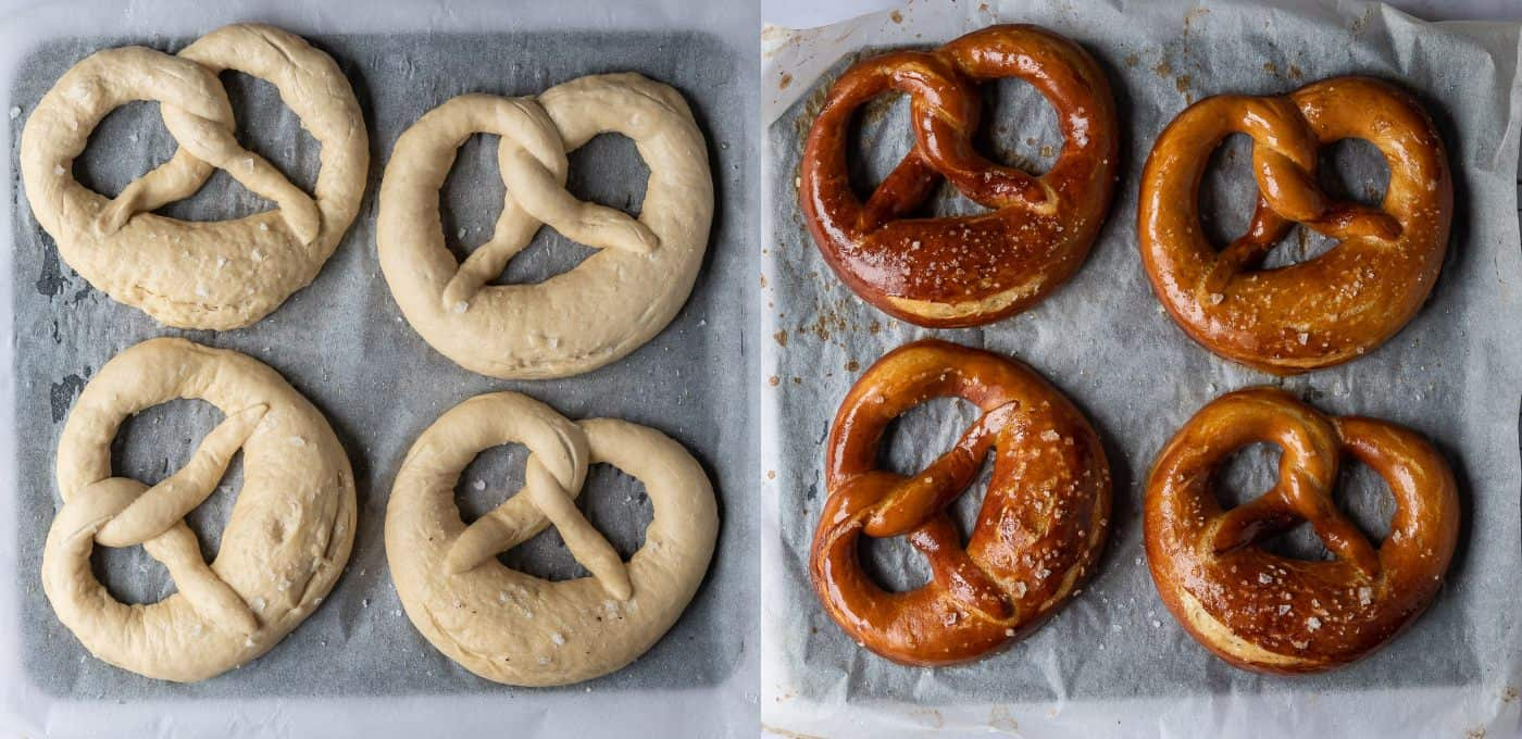 step 6 - baking the pretzels