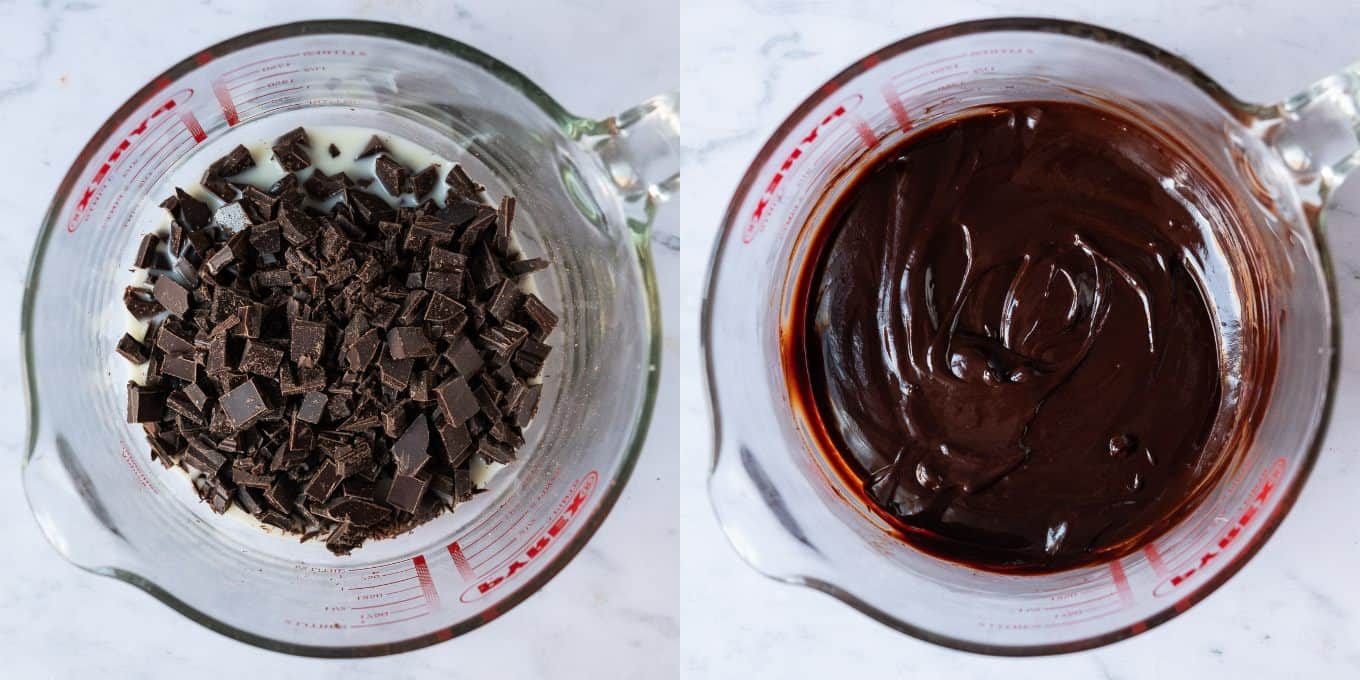 step 4 - melting the chocolate