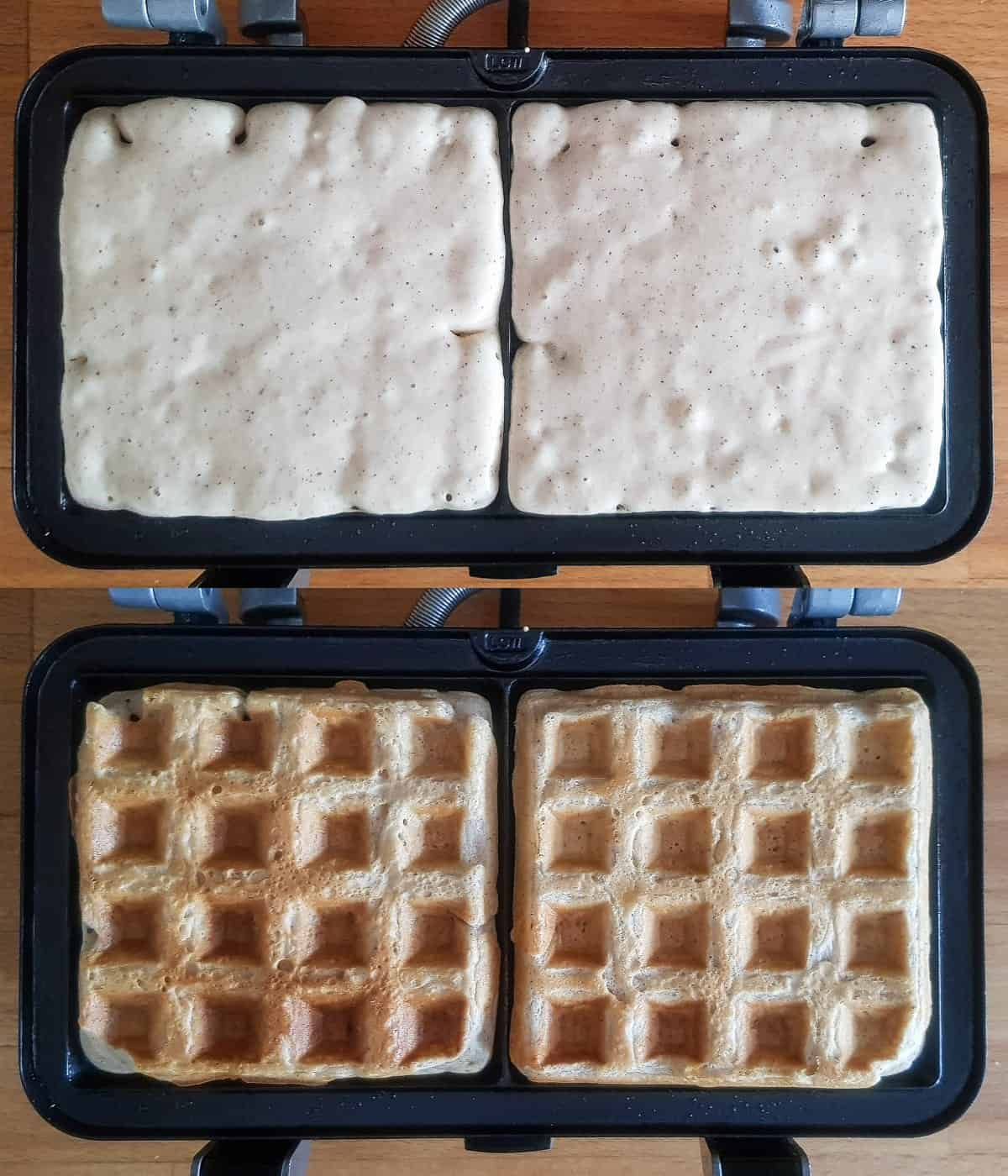 step 2 - cooking the waffles.