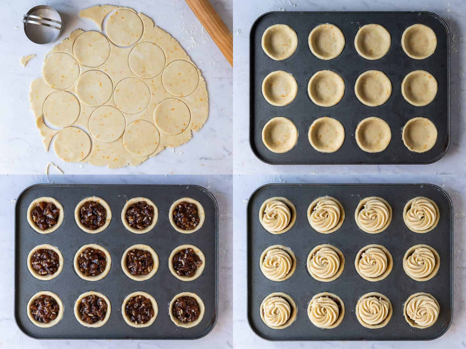 Step 3 - assembling the mince pies.