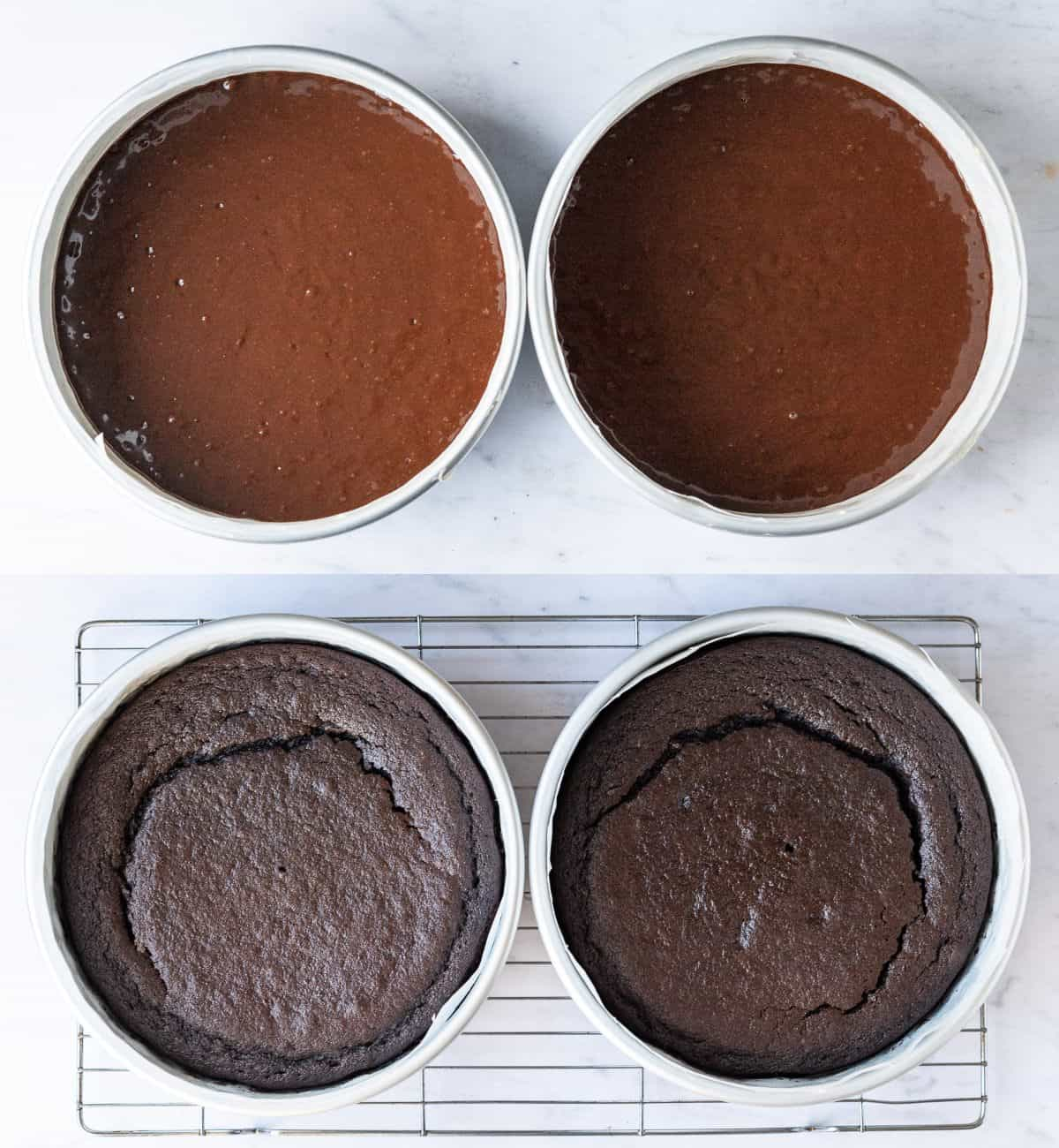 Step 2 - baking the cakes.