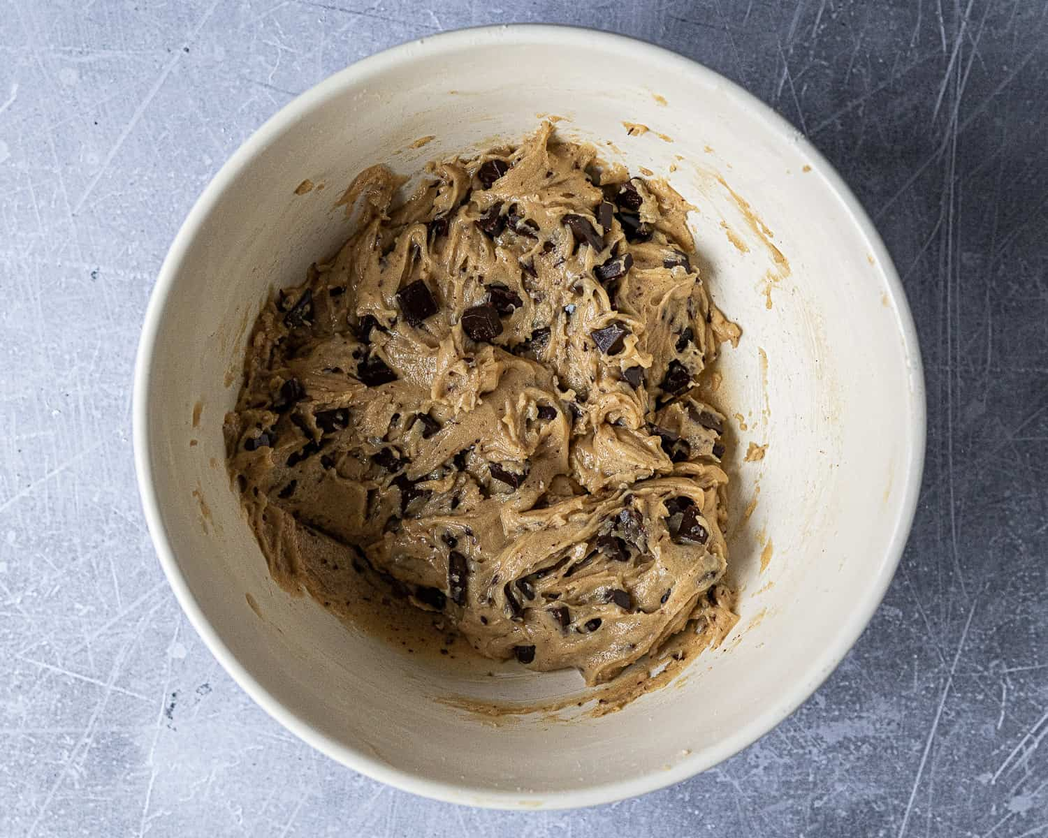 Step 2 - a bowl of cookie dough.